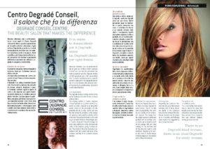 articolo publiredazionale su Centro Degradé Conseil pagine 1-2